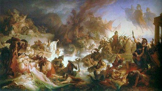 640px-Kaulbach,_Wilhelm_von_-_Die_Seeschlacht_bei_Salamis_-_1868